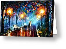 Misty Mood Greeting Card by Leonid Afremov