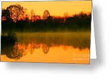 Misty Sunrise Greeting Card by Morgan Hill