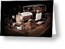 Model A Culver City Police Bw Greeting Card by David Dunham