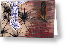 Modus Operandi Of An Angel Greeting Card by Iosua Tai Taeoalii