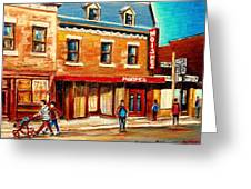 Moishes The Place For Steaks Greeting Card by Carole Spandau
