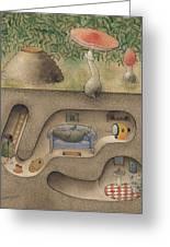 Mole Greeting Card by Kestutis Kasparavicius