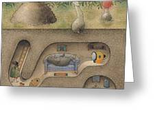 Mole Greeting Card by Kestutis Kasparavicius