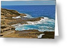 Molokai Lookout 0649 Greeting Card by Michael Peychich