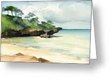 Mombasa Beach Greeting Card by Stephanie Aarons