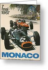 Monaco Grand Prix 1967 Greeting Card by Georgia Fowler