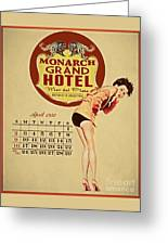 Monarch Grand Hotel Greeting Card by Cinema Photography