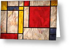 Mondrian Inspired Greeting Card by Michael Tompsett