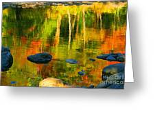 Monet Autumnal Greeting Card by Aimelle