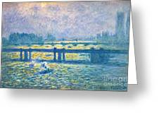 Monet: Charing Cross Greeting Card by Granger