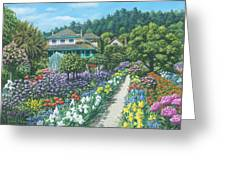 Monet's Garden Giverny Greeting Card by Richard Harpum