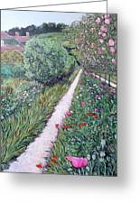 Monet's Garden Path Greeting Card by Tom Roderick