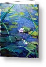 Monets Garden Greeting Card by Susan Jenkins