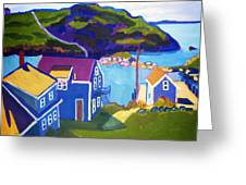 Monhegan Harbor Greeting Card by Debra Robinson