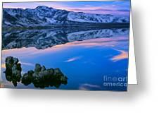 Mono Lake Twilight Greeting Card by Inge Johnsson
