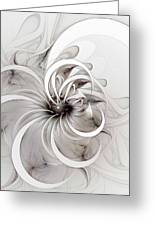 Monochrome Flower Greeting Card by Amanda Moore
