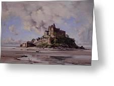Mont Saint Michel Greeting Card by Emmanuel Lansyer
