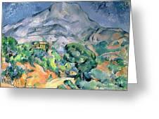 Mont Sainte Victoire Greeting Card by Paul Cezanne