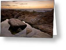 Monterey Sunset Greeting Card by Mike Irwin