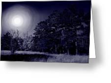 Moon And Dreams Greeting Card by Nina Fosdick