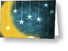 moon and stars Greeting Card by Setsiri Silapasuwanchai