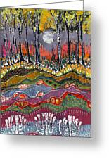 Moonlight Over Spring Greeting Card by Carol  Law Conklin