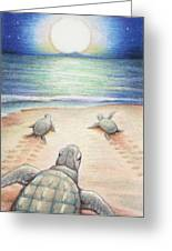 Moonlit March Greeting Card by Amy S Turner