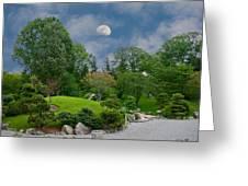 Moonrise Meditation Greeting Card by Charles Warren