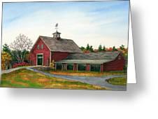 Moose Hill Barn Greeting Card by Elaine Farmer