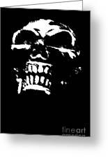Morbid Skull Greeting Card by Roseanne Jones