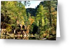 Morning at Oak Creek Arizona Greeting Card by Kurt Van Wagner