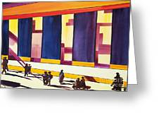Morning Commute Cle Greeting Card by JoAnn DePolo
