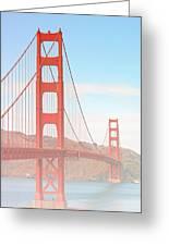 Morning Has Broken - Golden Gate Bridge San Francisco Greeting Card by Christine Till
