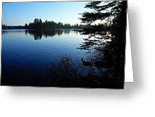 Morning On Chad Lake Greeting Card by Larry Ricker