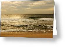 Morning On The Beach - Jersey Shore Greeting Card by Angie Tirado
