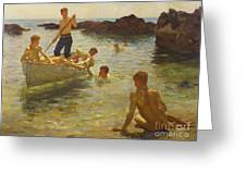 Morning Splendour Greeting Card by Henry Scott Tuke