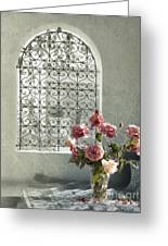 Moroccan Rose Greeting Card by Linde Townsend