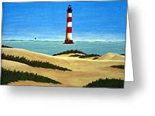 Morris Island Lighthouse Greeting Card by Frederic Kohli