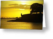 Morro Sunset Greeting Card by Mauricio Jimenez
