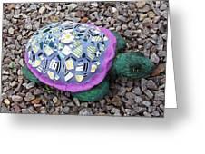 Mosaic Turtle Greeting Card by Jamie Frier