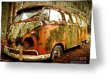 Moss Covered 23 Window Bus Greeting Card by Michael David Sorensen