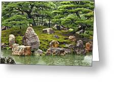 Mossy Japanese Garden Greeting Card by Carol Groenen