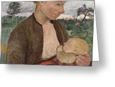 Mother And Child Greeting Card by Paula Modersohn Becker