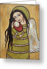 Mother And Child Greeting Card by Rain Ririn