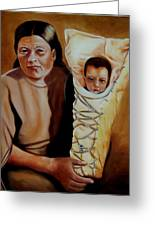 Mother And Son Greeting Card by Joni McPherson