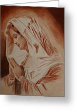 Mother Mary Greeting Card by Mike Hinojosa