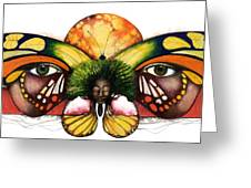 Mother Nature Vi Greeting Card by Anthony Burks Sr