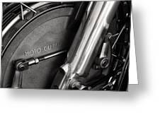 Moto Guzzi V7 Greeting Card by Marley Holman