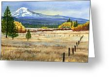 Mount Adams Greeting Card by Sharon Freeman