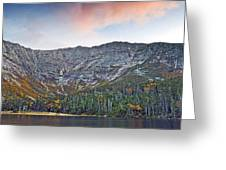 Mount Katahdin from Chimney Pond in Baxter State Park Maine Greeting Card by Brendan Reals